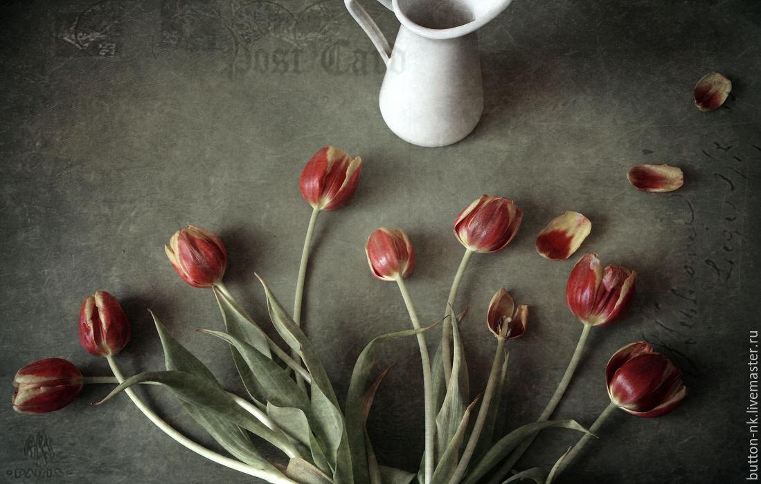 Открытка с тюльпанами Натюрморт фото, картина, Фотокартины, Москва, Фото №1