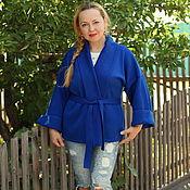 """Одежда handmade. Livemaster - original item Knitted cardigan """"Luxury deep blue"""". Handmade."""