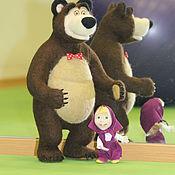 """Медведь из м/ф """"Маша и Медведь"""" Валяная игрушка из шерсти."""
