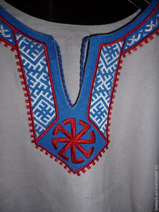 Одежда ручной работы. Ярмарка Мастеров - ручная работа. Купить Рубаха мужская  Арт.004. Handmade. Белый, славянские символы