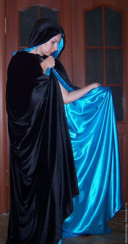 Мантия бархатная черно-голубая, Одежда, Москва, Фото №1