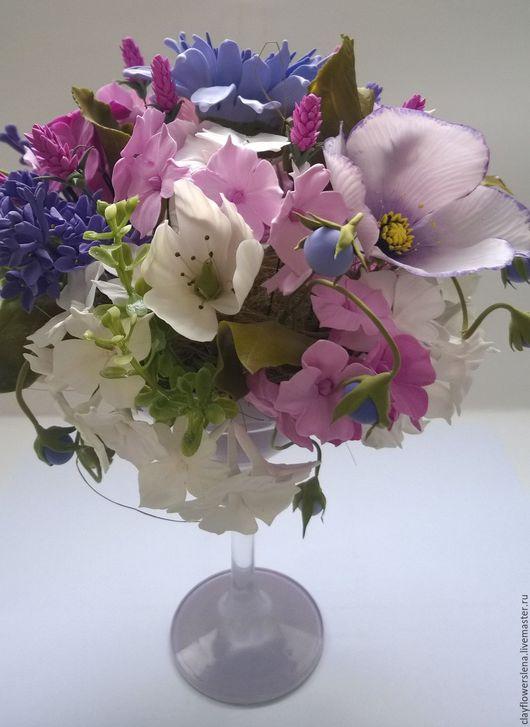 Интерьерные композиции ручной работы. Ярмарка Мастеров - ручная работа. Купить Весна. Handmade. Сиреневый, керамическая флористика