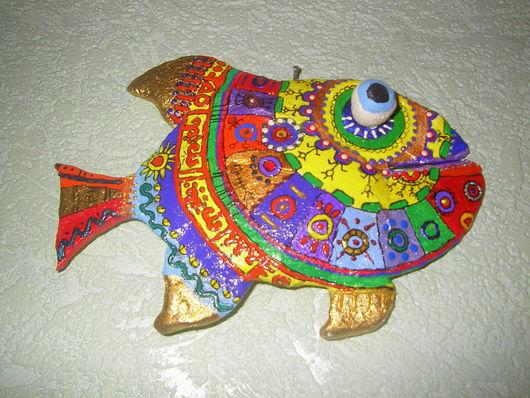 Подвески ручной работы. Ярмарка Мастеров - ручная работа. Купить Рыбочка. Handmade. Роспись, акрил