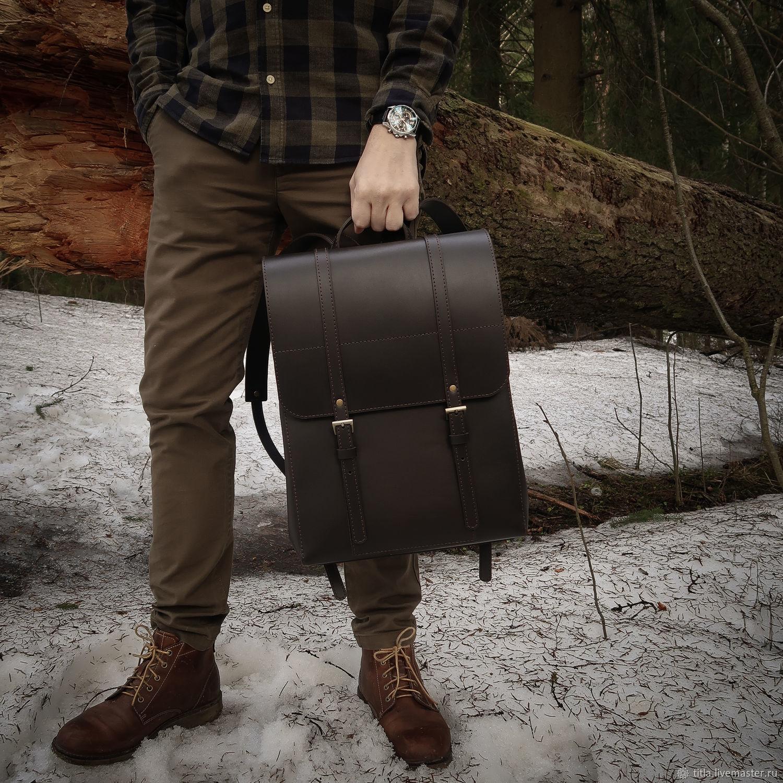 Backpack genuine leather handmade, Backpacks, St. Petersburg,  Фото №1