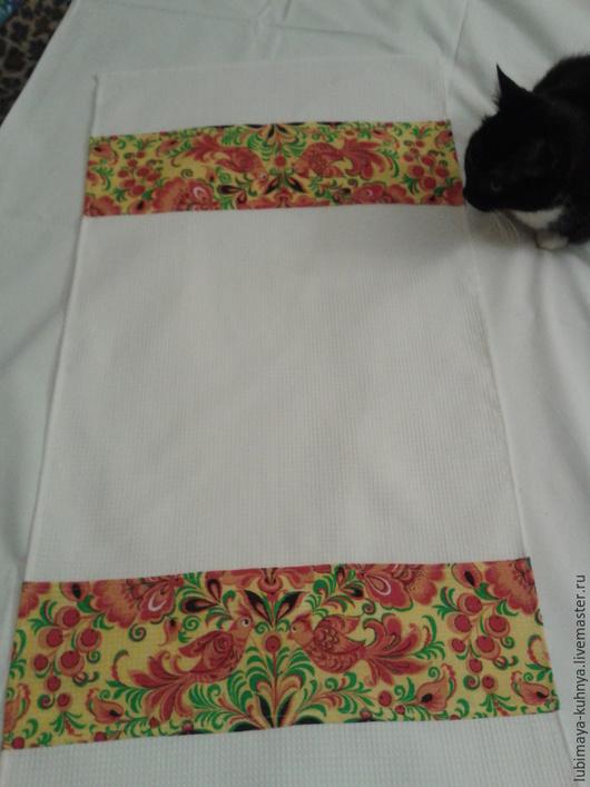 """Кухня ручной работы. Ярмарка Мастеров - ручная работа. Купить Кухонное полотенце """"Лето красное"""". Handmade. Разноцветный, вафельное полотно"""