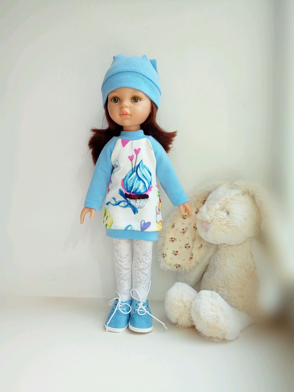 Clothing for Paola Reina doll: knitted dress and hat, Clothes for dolls, Kazan,  Фото №1