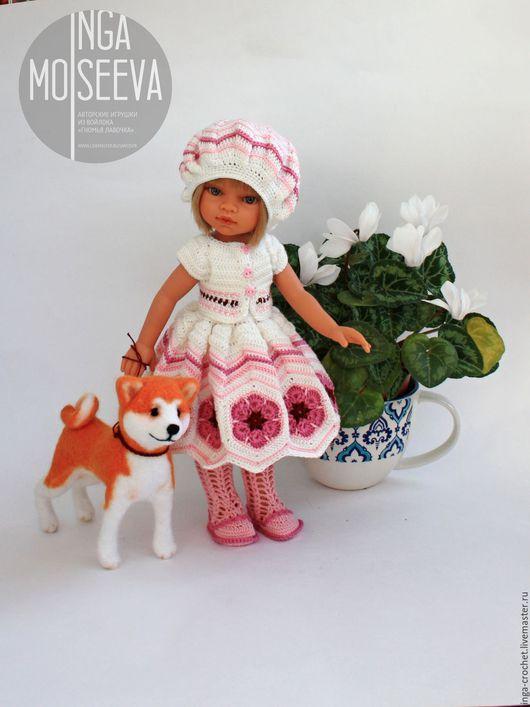 """Одежда для кукол ручной работы. Ярмарка Мастеров - ручная работа. Купить Наряд для куклы """"Сакура"""". Handmade. Розовый, Вязание крючком"""