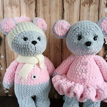 Куклы и игрушки. Ярмарка Мастеров - ручная работа Плюшевые мышки-малышки. Handmade.