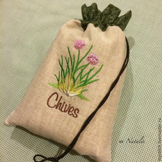 """Упаковка ручной работы. Ярмарка Мастеров - ручная работа. Купить Мешочек для трав """"Лук"""". Handmade. Мешочек для трав, мешочек для подарка"""