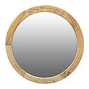 Для дома и интерьера ручной работы. Ярмарка Мастеров - ручная работа Круглое зеркало в деревянной раме сосна. Handmade.