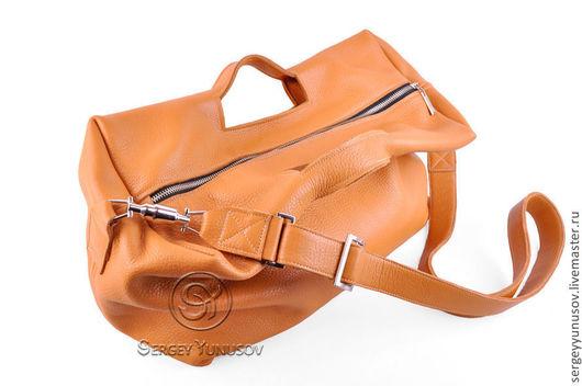 Мужские сумки ручной работы. Ярмарка Мастеров - ручная работа. Купить Сумка Unisex II. Handmade. Рыжая сумка, unisex