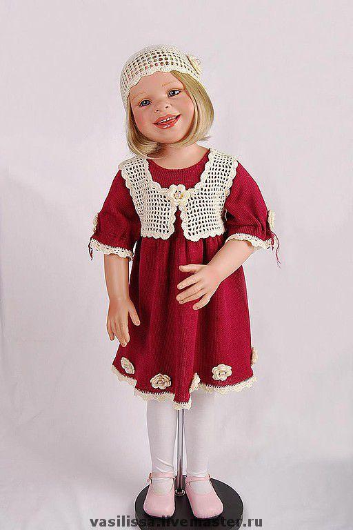 """Одежда для девочек, ручной работы. Ярмарка Мастеров - ручная работа. Купить Вязаное праздничное платье """"Цветочное"""". Handmade. Платье для девочки"""