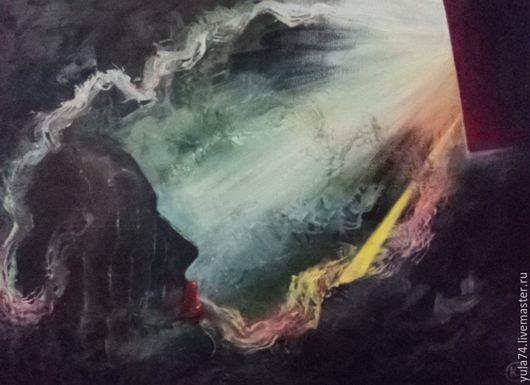 Фантазийные сюжеты ручной работы. Ярмарка Мастеров - ручная работа. Купить Картина маслом 40 на 24 Трансформация сознания. Handmade.
