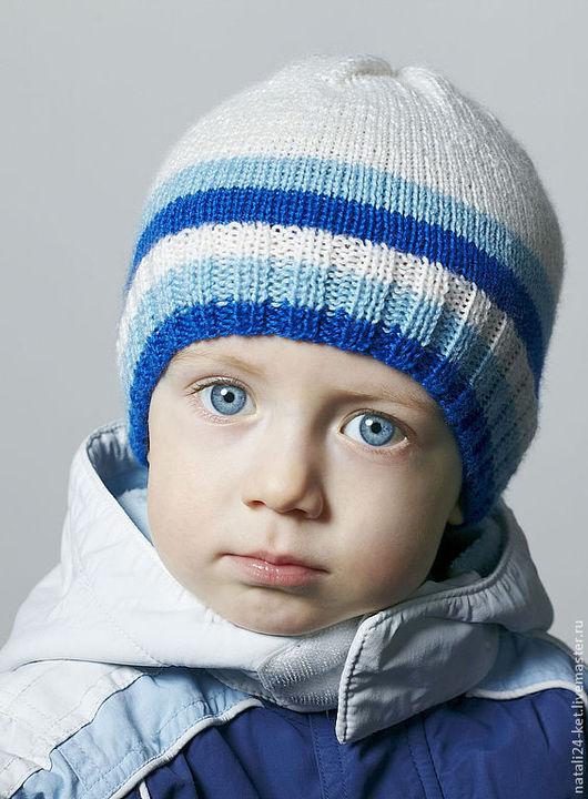 Шапки и шарфы ручной работы. Ярмарка Мастеров - ручная работа. Купить шапка под куртку. Handmade. Белый, голубой, одежда