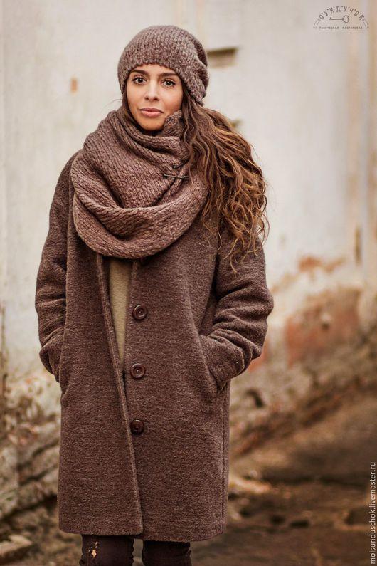 """Верхняя одежда ручной работы. Ярмарка Мастеров - ручная работа. Купить Пальто """"Шоколодная осень"""". Handmade. Коричневый, пальто демисезонное"""