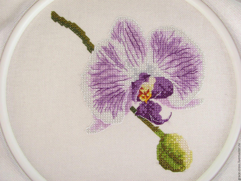 Вышивки гладью с орхидеями