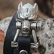 Cuff bracelet handmade. Livemaster - original item Silver wolf bracelet. Handmade.