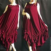 Одежда ручной работы. Ярмарка Мастеров - ручная работа Платье «Вишнево-розовый ликер». Handmade.