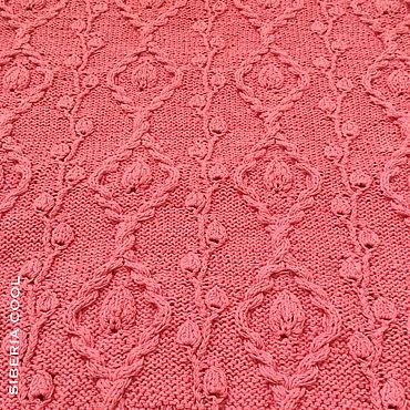 Одежда ручной работы. Ярмарка Мастеров - ручная работа Кофточка женская Коралловая роза, ручная вязка, хлопок. Handmade.