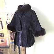 Одежда handmade. Livemaster - original item Fur coat Karakul broadtail trimmed with Fox. Handmade.