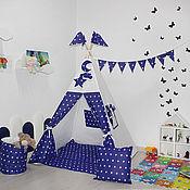 Вигвам ручной работы. Ярмарка Мастеров - ручная работа Вигвам Звезды на синем. Handmade.