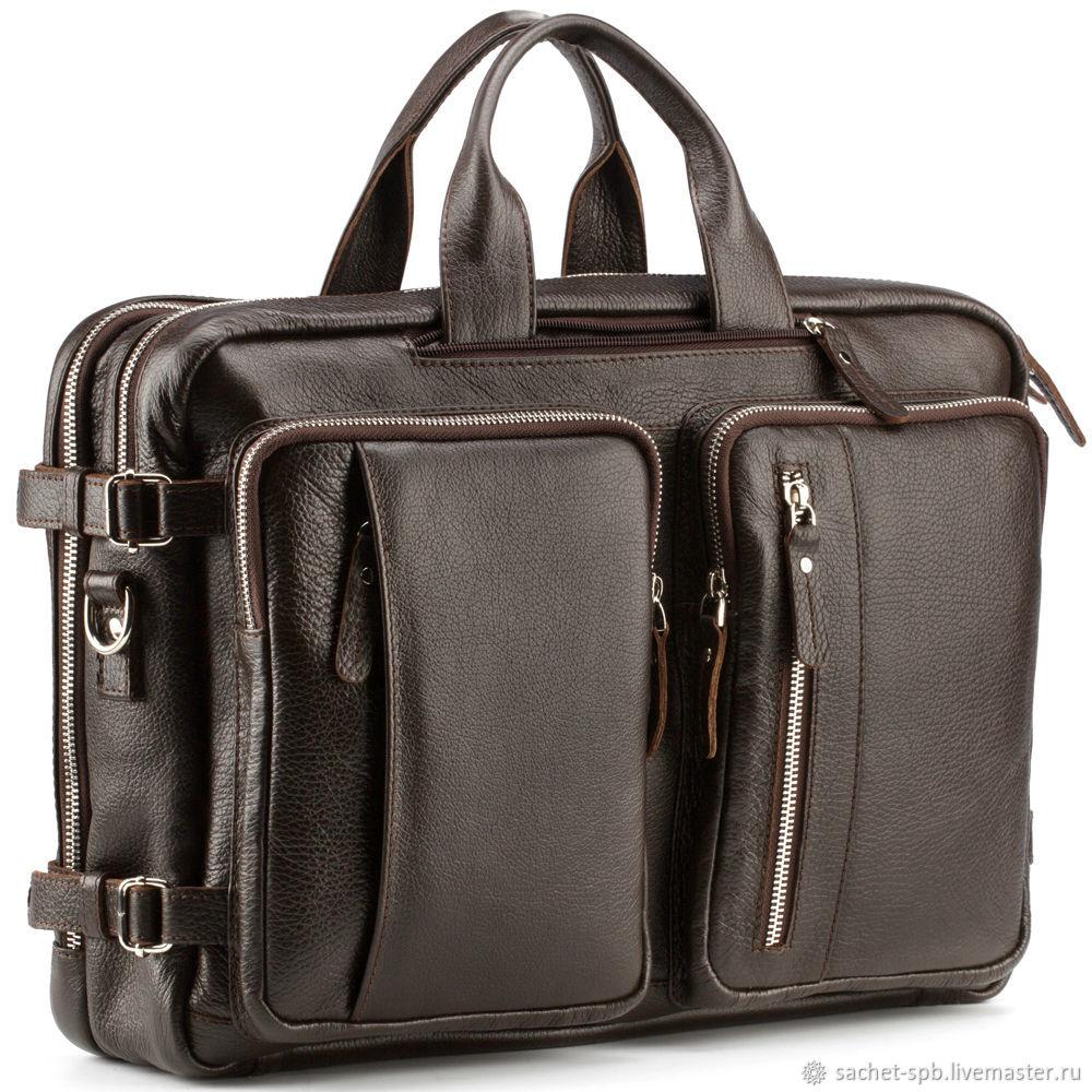 3fdcf58c4e13 Мужские сумки ручной работы. Ярмарка Мастеров - ручная работа. Купить  Кожаная сумка-рюкзак ...