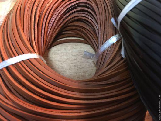Для украшений ручной работы. Ярмарка Мастеров - ручная работа. Купить Шнур кожаный 2х3 мм ,  рыжий. Handmade. Рыжий