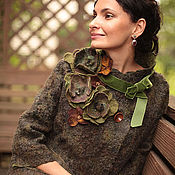 Одежда ручной работы. Ярмарка Мастеров - ручная работа Весна в Париже (зелень). Handmade.
