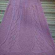 Одежда ручной работы. Ярмарка Мастеров - ручная работа Вязаная юбка длинная Пыльная Роза. Handmade.