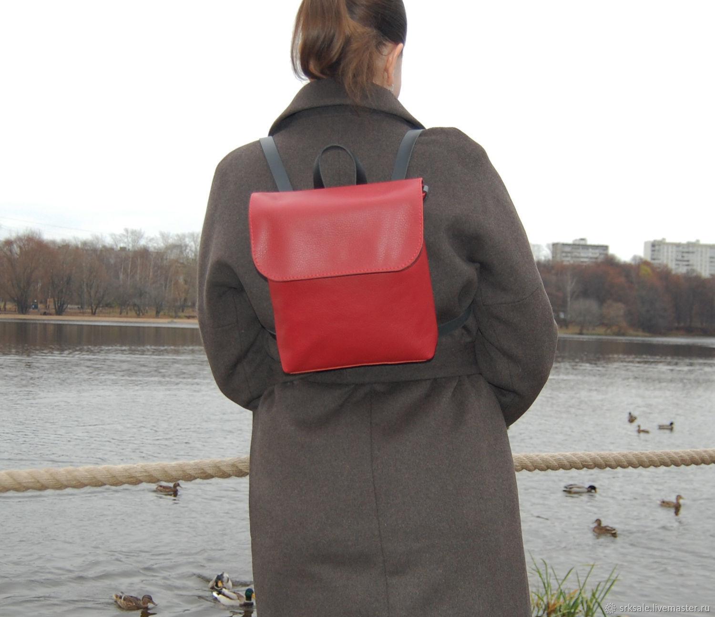 53059891503d Кожаный красный женский рюкзак. Nikita Soroko. Ярмарка Мастеров. Ярко