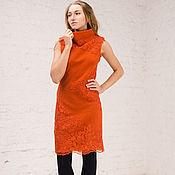 Одежда handmade. Livemaster - original item Wool dress with lace. Handmade.