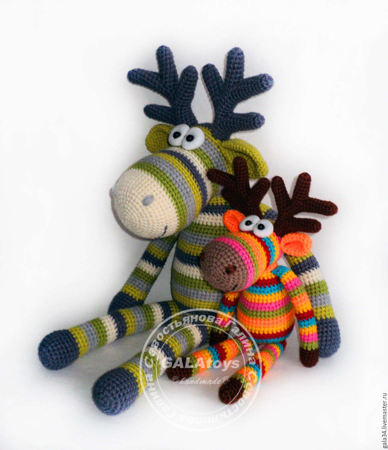 rainbow crocheted toy moose small – shop online on Livemaster with ...
