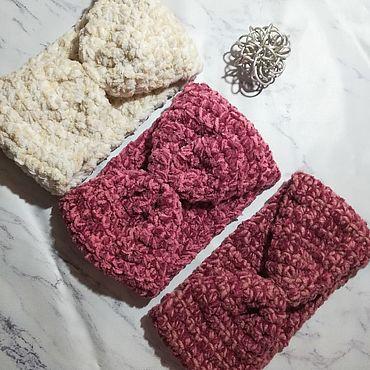 Товары для малышей ручной работы. Ярмарка Мастеров - ручная работа Теплая вязаная повязка для головы ручной работы. Handmade.