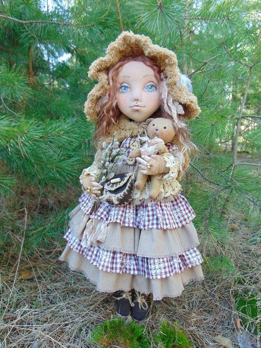 Коллекционные куклы ручной работы. Ярмарка Мастеров - ручная работа. Купить Татьяна. Handmade. Бежевый, коллекционная кукла, проволока