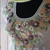 Одежда ручной работы. Ярмарка Мастеров - ручная работа Платье льняное Утомленное солнце. Handmade.