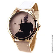 Украшения ручной работы. Ярмарка Мастеров - ручная работа Дизайнерские наручные часы Монро Black Dress. Handmade.