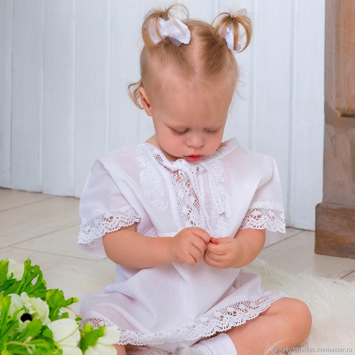 """Крестильный набор """"Малышка"""" с махровым уголком, Комплект для крещения, Москва,  Фото №1"""