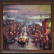 """Картины и панно ручной работы. Ярмарка Мастеров - ручная работа Картина """"Городской пейзаж""""-3. Handmade."""