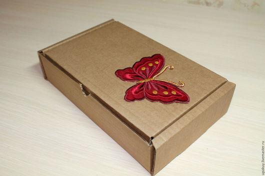 Упаковка ручной работы. Ярмарка Мастеров - ручная работа. Купить Крафт коробка 22x14,5x5. Handmade. Коричневый, крафт коробочка