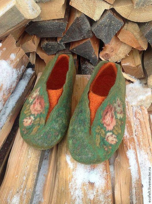 Обувь ручной работы. Ярмарка Мастеров - ручная работа. Купить Тапочки - Уютные. Handmade. Домашние тапочки, обувь для дома