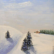 """Картины и панно ручной работы. Ярмарка Мастеров - ручная работа Авторская картина маслом """"Заснеженная долина"""". Handmade."""