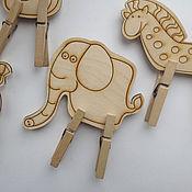 Мягкие игрушки ручной работы. Ярмарка Мастеров - ручная работа Развивающая игрушка с прищепками Животные.. Handmade.