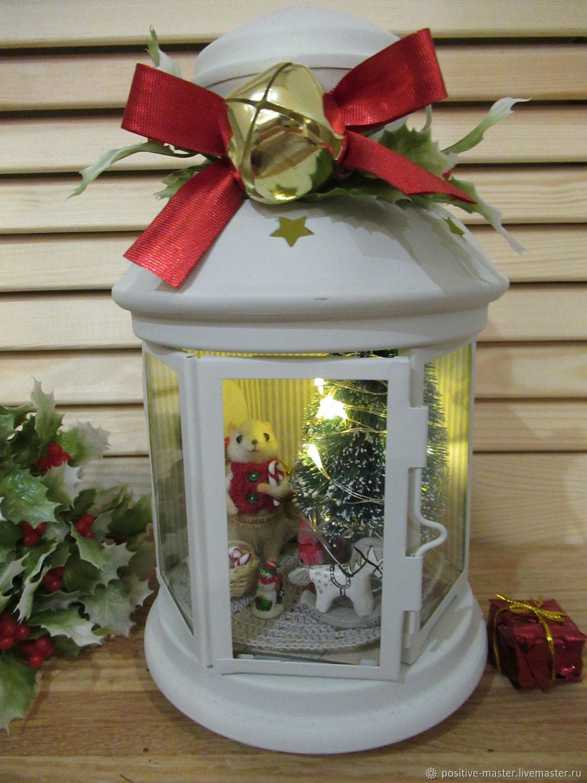 Новогодний фонарь с мышкой, Кукольные домики, Щелково,  Фото №1