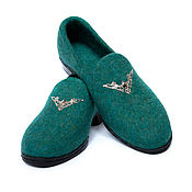 Обувь ручной работы handmade. Livemaster - original item Felted shoes Jasper. Handmade.