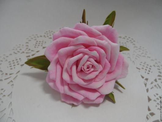 Детская бижутерия ручной работы. Ярмарка Мастеров - ручная работа. Купить Бантик розочка из фоамирана. Handmade. Комбинированный, цветок из фоамирана