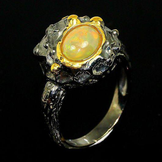 """Кольца ручной работы. Ярмарка Мастеров - ручная работа. Купить """" Мона Лиза"""" кольцо с опалом Эфиопии. Handmade. Опал"""