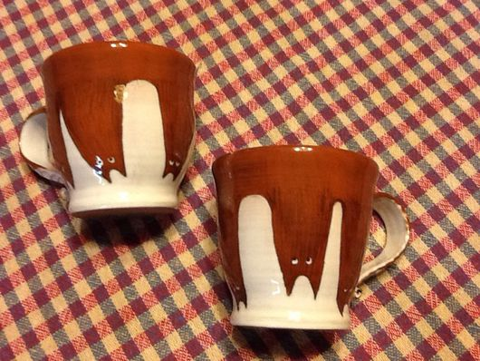 Кружки и чашки ручной работы. Ярмарка Мастеров - ручная работа. Купить Две чашечки с котами.. Handmade. Чашка, чашка кофе