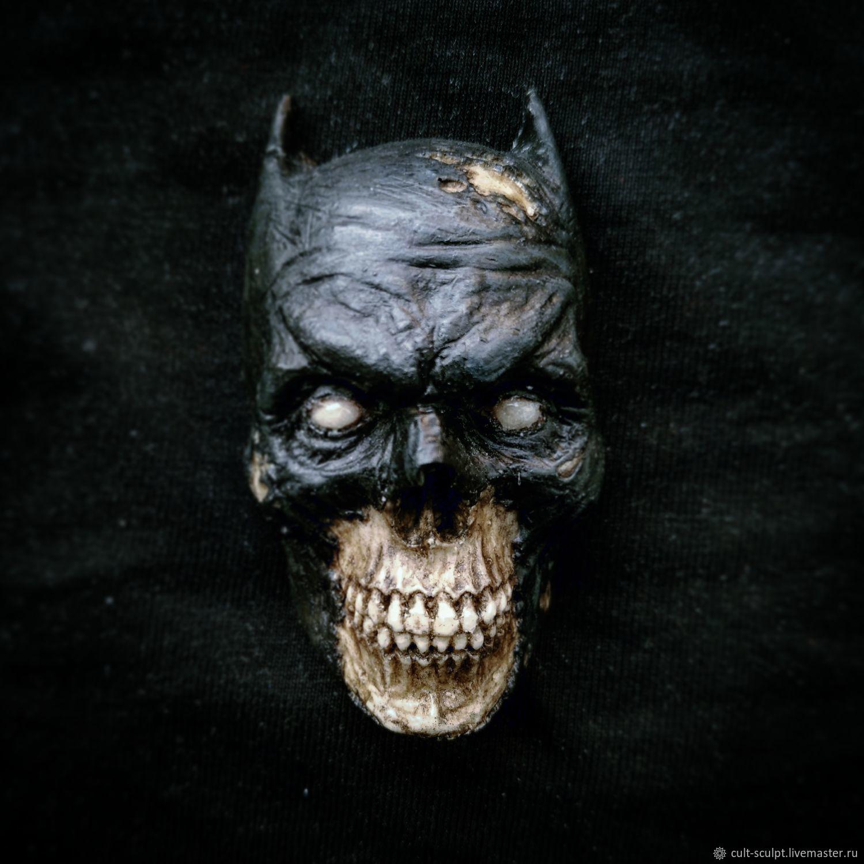 Магниты ручной работы. Ярмарка Мастеров - ручная работа. Купить Магнит бэтмен череп. Handmade. Череп, batman, полиуретановый пластик