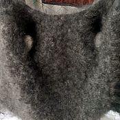Продан!!! Пуховый жилет - Шубка ,кудрявый!