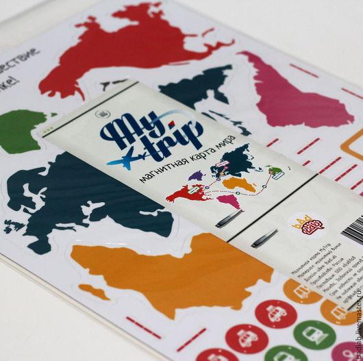 Магниты ручной работы. Ярмарка Мастеров - ручная работа. Купить Магнитная карта мира My Trip. Handmade. My trip